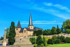 Cathedral Square with Michael Church in historical Fulda, Germany Stock Images