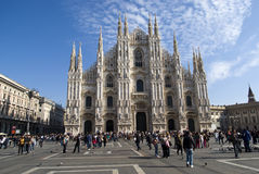 Cathedral square of Milan Stock Image
