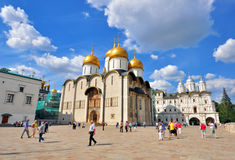 Cathedral square, Moscow Kremlin, Russia Royalty Free Stock Photos