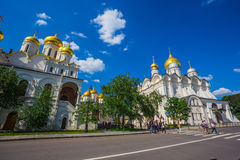 Cathedral Square of Moscow Kremlin in Russia Royalty Free Stock Photography