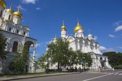 Cathedral Square of Moscow Kremlin in Russia Royalty Free Stock Photo