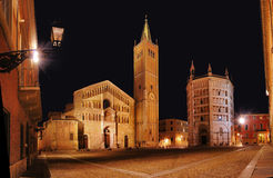Cathedral Square at night Royalty Free Stock Photography