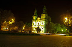 Cathedral Square. Night photo of Cathedral Square in the city center Stock Photography