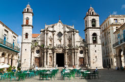 The Cathedral Square in Old Havana Royalty Free Stock Photography