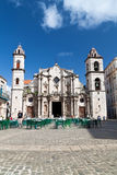The Cathedral Square in  Old Havana Royalty Free Stock Photos
