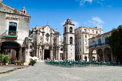 The Cathedral Square in  Old Havana Royalty Free Stock Photo