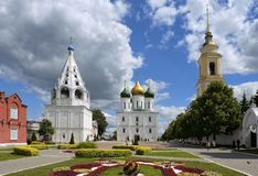Cathedral Square in the old Kolomna Kremlin royalty free stock photography