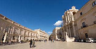 Cathedral Square - Ortygia Syracuse Sicily Italy Royalty Free Stock Image