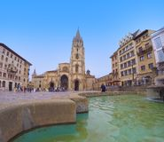 Cathedral Square of Oviedo. Stock Photos