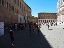 Cathedral square in Siena Royalty Free Stock Images
