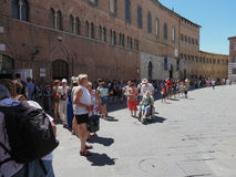 Cathedral square in Siena Royalty Free Stock Photos