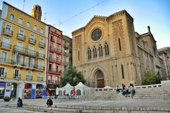 The Cathedral Square, Spain. Lleida. Royalty Free Stock Photography