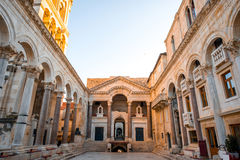 Cathedral square in Split city Stock Images