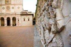 Cathedral square, Spoleto, Umbria Stock Photos
