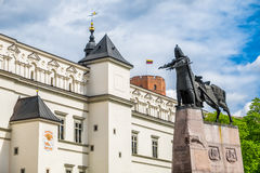 Cathedral Square at spring, Vilnius, Lithuania. Royalty Free Stock Photos
