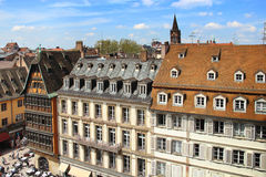 Cathedral square in Strasbourg, France Stock Photo