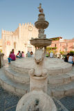 Cathedral square in Taormina, Sicily Stock Photography