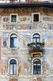 Cathedral  square of Trento, house Royalty Free Stock Images