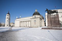 Cathedral Square in Vilnius, Lithuania Stock Images