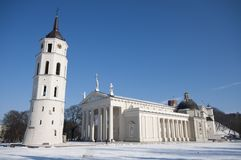 Cathedral Square in Vilnius, Lithuania Royalty Free Stock Image
