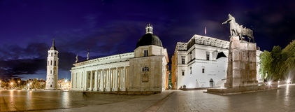 Cathedral square in Vilnius Stock Images