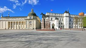 Cathedral square of Vilnius, Lithuania Royalty Free Stock Photography