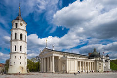 Cathedral square in Vilnius, Lithuania. Stock Photography