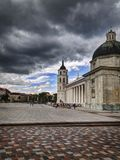 Cathedral square in Vilnius royalty free stock image