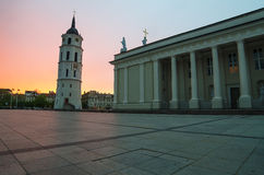Cathedral Square in Vilnius Stock Photos
