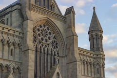 Cathedral of St Albans. Ancient cathedral of St Albans in the United Kingdom Stock Image