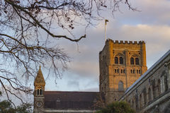Cathedral of St Albans. Ancient cathedral of St Albans in the United Kingdom Royalty Free Stock Photography