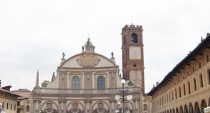 Cathedral of St. Ambrose Vigevano Royalty Free Stock Images