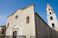 Cathedral of St. Andrea. Venosa. Basilicata. Italy. Perspective of the Cathedral of St. Andrea. Venosa. Basilicata. Italy Royalty Free Stock Image