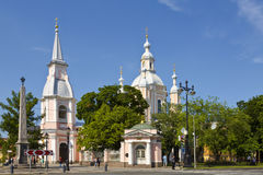 The Cathedral of St. Andrew the Apostle on Vasilevsky island in St. Petersburg, Stock Photography