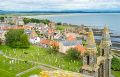 Panoramic view of Saint Andrews Cathedral, Scotland. royalty free stock photo