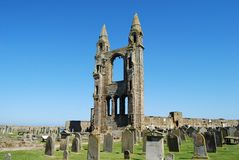 East Tower at St Andrew`s Cathedral, Scotland royalty free stock image