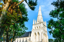 Cathedral. St Andrew's Cathedral in Singapore Stock Images