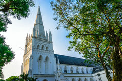 Cathedral. St Andrew's Cathedral in Singapore Royalty Free Stock Photography