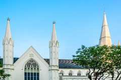 Cathedral. St Andrew's Cathedral in Singapore Stock Photo