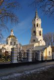 Cathedral of St. Andrew in Stavropol. Against the blue sky Royalty Free Stock Photo