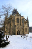 Cathedral of St. Barbara. In Kutna Hora in Czech Royalty Free Stock Photos