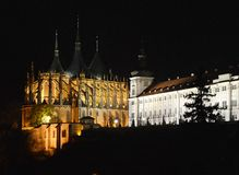 The Cathedral of St. Barbara Church in Kutná Hora, Czech republic Royalty Free Stock Image