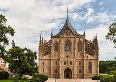 Cathedral of st. Barbara. In city Kutna Hora Royalty Free Stock Photos