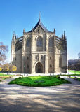 Cathedral of St. Barbara in Kutna Hora, Czech Republic Stock Images