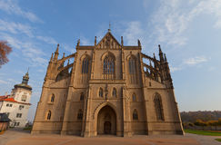 Cathedral of St Barbara in Kutna Hora. UNESCO site Royalty Free Stock Photography