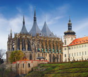 Cathedral of St Barbara in Kutna Hora Royalty Free Stock Photo