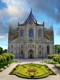 Czech Republic, Kutna Hora, UNESCO. Cathedral of St. Barbara - One of the most famous Gothic churches in central Europe, UNESCO World Heritage Site. Kutna Hora Royalty Free Stock Image