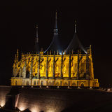 Cathedral of st. Barbora. In city Kutna Hora Royalty Free Stock Image