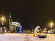 Cathedral of St. Bartholomew (Pilsen) Stock Photo