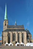 Cathedral of St. Bartholomew in Plzen Royalty Free Stock Photo